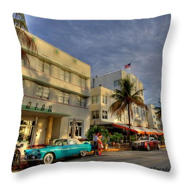 Avalon Hotel Throw Pillow