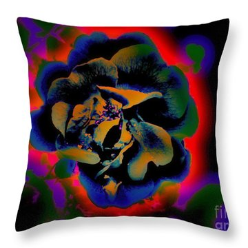 Throw Pillow featuring the digital art Avatar Rose 01 by Greg Moores