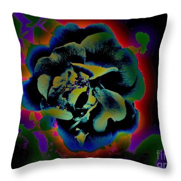 Throw Pillow featuring the digital art Avatar Rose 2 by Greg Moores