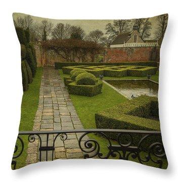Avebury Manor Topiary Throw Pillow