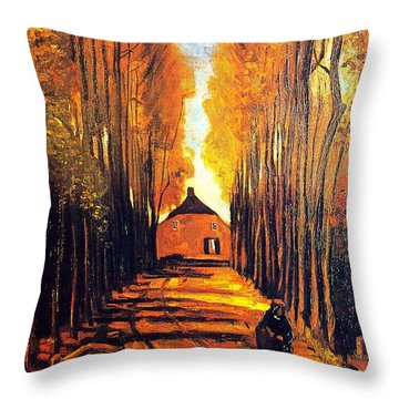 Avenue At Poplars Throw Pillow by Sumit Mehndiratta
