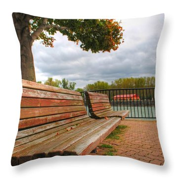 Throw Pillow featuring the photograph Awaiting by Michael Frank Jr