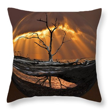 Awakening Throw Pillow by Debra and Dave Vanderlaan