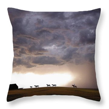 Awesome Storm Throw Pillow by Bill Stephens