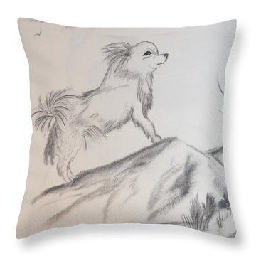 Aye Chihuahua Throw Pillow by Maria Urso