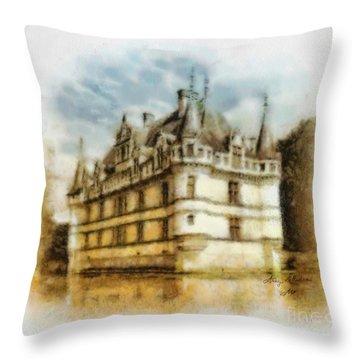 Azay Le Rideau Throw Pillow by Mo T