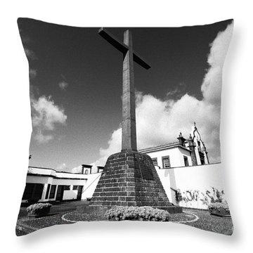Azorean Chapel Throw Pillow by Gaspar Avila