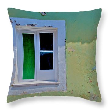 Azores Window Throw Pillow by Eric Tressler