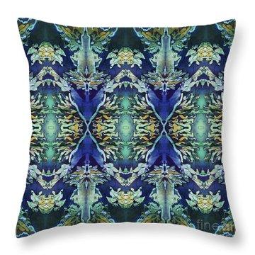 Azuraz Candle Tiled Throw Pillow by Sue Duda