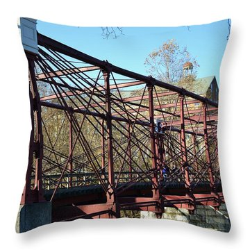 Throw Pillow featuring the photograph B And O Bridge by Mary Zeman
