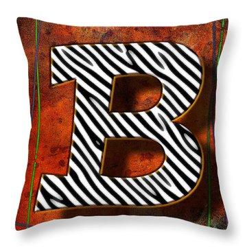 B Throw Pillow by Mauro Celotti