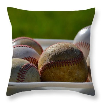 B P Throw Pillow by Bill Owen