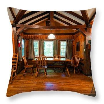 Babcock Cabin Interior 2 Throw Pillow by Steve Harrington