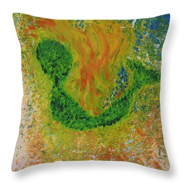 Throw Pillow featuring the painting Baby Alien by Lola Connelly