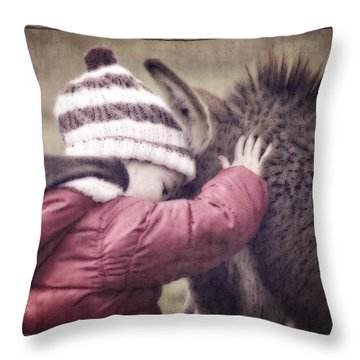 Tender Innocence Throw Pillow