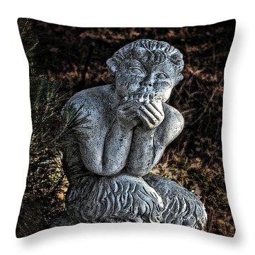 Baby Pan Statue Throw Pillow