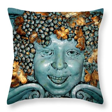 Bacchus Throw Pillow by Randall Weidner