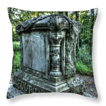 Bachelors Grove Fulton Tomb Throw Pillow by Jackie Novak