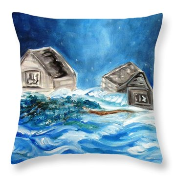 Back Cover Throw Pillow by Carol Allen Anfinsen