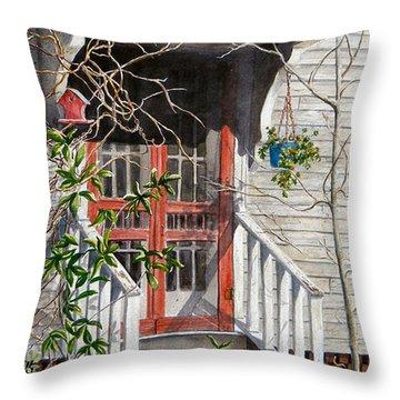Back Door Friends  Sold Throw Pillow