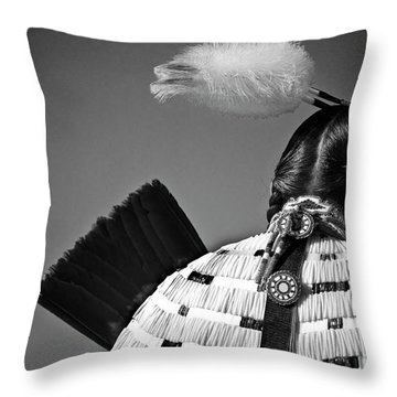 Back Feather Throw Pillow by Diego Re
