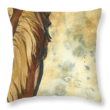 Back In The Saddle Throw Pillow