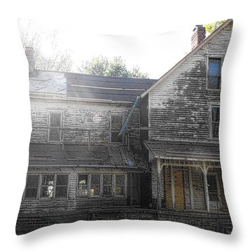 Back Of 1860's Mansion Throw Pillow by Kristie  Bonnewell