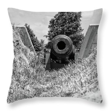Back Off Throw Pillow by Guy Whiteley