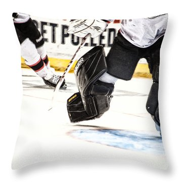 Back To The Crease Throw Pillow by Karol Livote