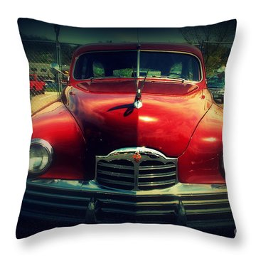 Back To The Future Packard Throw Pillow by Susanne Van Hulst