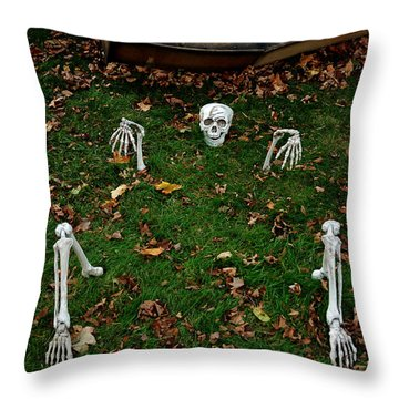 Back Yard Bone Yard Throw Pillow by LeeAnn McLaneGoetz McLaneGoetzStudioLLCcom
