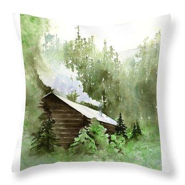 Backcountry Morning Throw Pillow