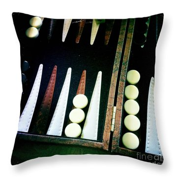 Throw Pillow featuring the photograph Backgammon Anyone by Nina Prommer