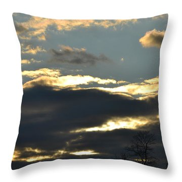 Backlit Clouds Throw Pillow