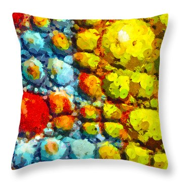 Bacteria 3 Throw Pillow by Angelina Vick