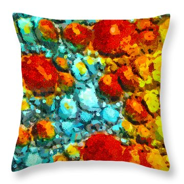 Bacteria 4 Throw Pillow by Angelina Vick