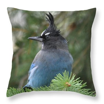 Bad Hair Day Throw Pillow by Dorrene BrownButterfield
