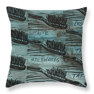 Throw Pillow featuring the mixed media Bad Taste by William Cauthern