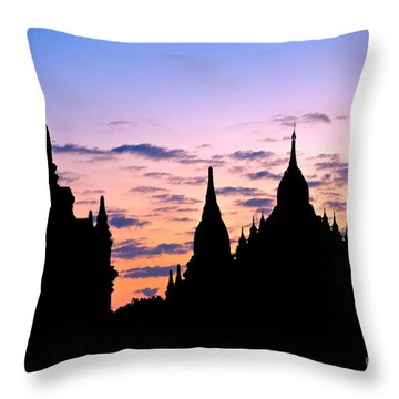 Throw Pillow featuring the photograph Bagan by Luciano Mortula