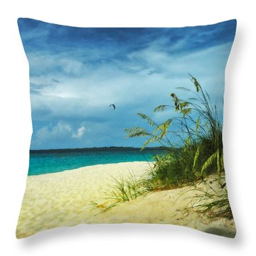 Throw Pillow featuring the photograph Bahamas Afternoon by Deborah Smith
