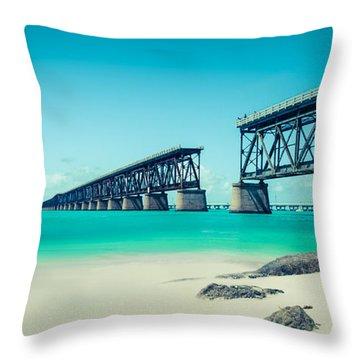 Bahia Hondas Railroad Bridge  Throw Pillow by Hannes Cmarits