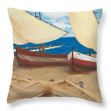 Baja Beach Dunes Throw Pillow
