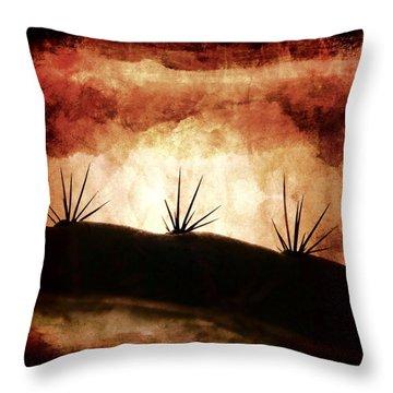 Baja Light Shimmer Throw Pillow