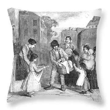 Baker, 1851 Throw Pillow by Granger