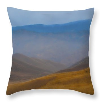 Throw Pillow featuring the photograph Bakersfield Horizon by Hugh Smith
