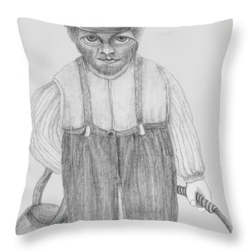 Balagule Throw Pillow by Rachel Hershkovitz