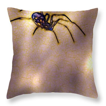 Balancing Act Throw Pillow by Judi Bagwell