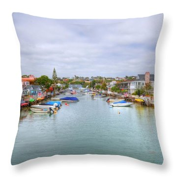 Balboa Island Throw Pillow by Kelly Wade