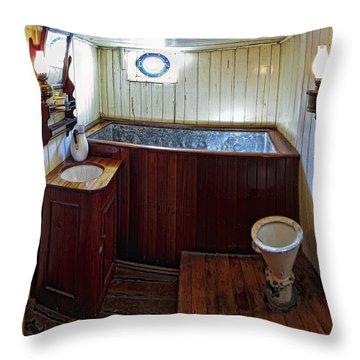 Balclutha Victorian Ship's Head Throw Pillow by Daniel Hagerman
