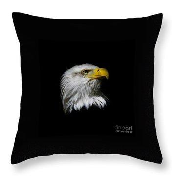 Bald Eagle Throw Pillow by Steve McKinzie